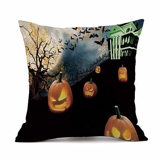 MAYOGO Fundas Cojines 45x45 Coloridos Halloween Calavera ...