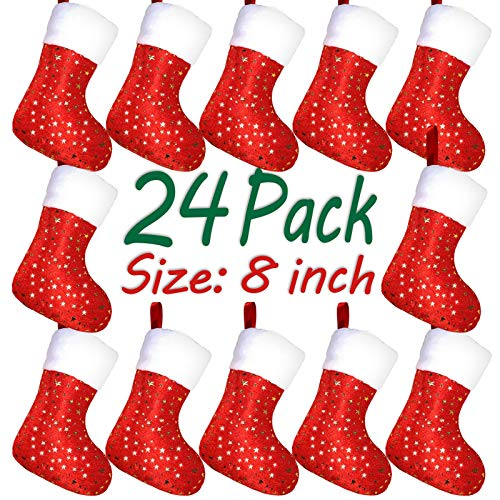 LimBrige Christmas Mini Stockings, 24 Pack 8