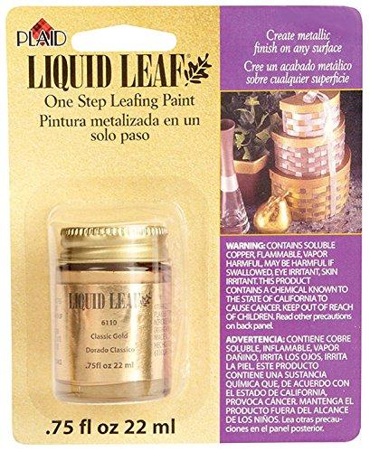 Classic Antique Gold Leaf - Liquid Leaf Paint One Step Leafing Paint, 0.75-Ounce, Original (Bright (Classic) Gold)
