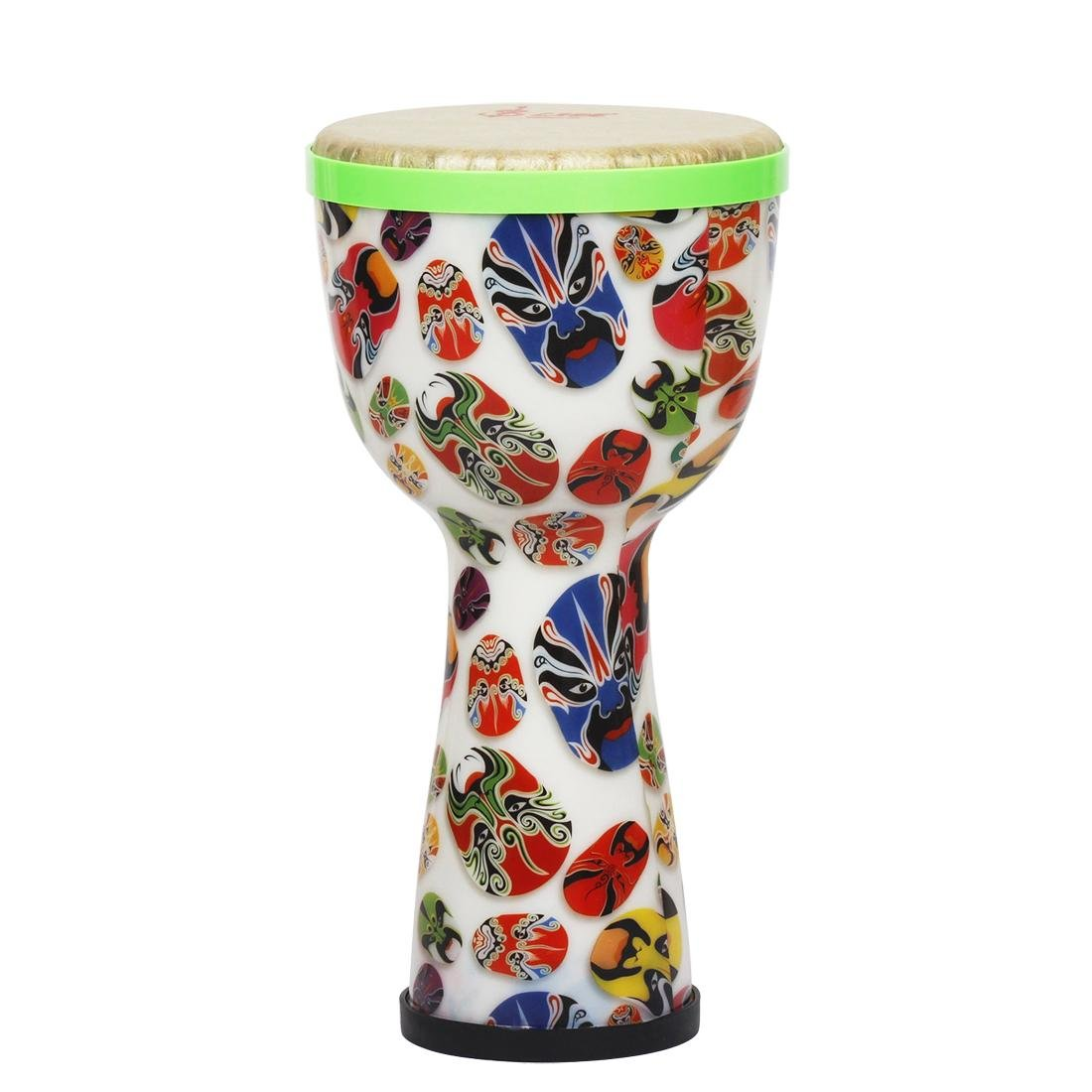 African Drum, 8inch Portable African Hand Drum with Egg Shakers Strap Percussion Instrument Dilwe