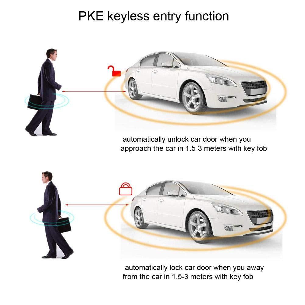 pulsante davviamento senza chiave di avviamento a distanza Qiilu Sistema di sicurezza dellallarme dellautomobile sistema di allarme universale dellautomobile Accensione del motore