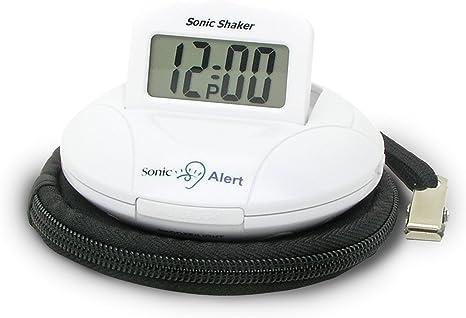 Geemarc Sbp100 Tragbarer Reisewecker Mit Extra Lautem Alarm 70 Db Vibration Tragetasche Küche Haushalt