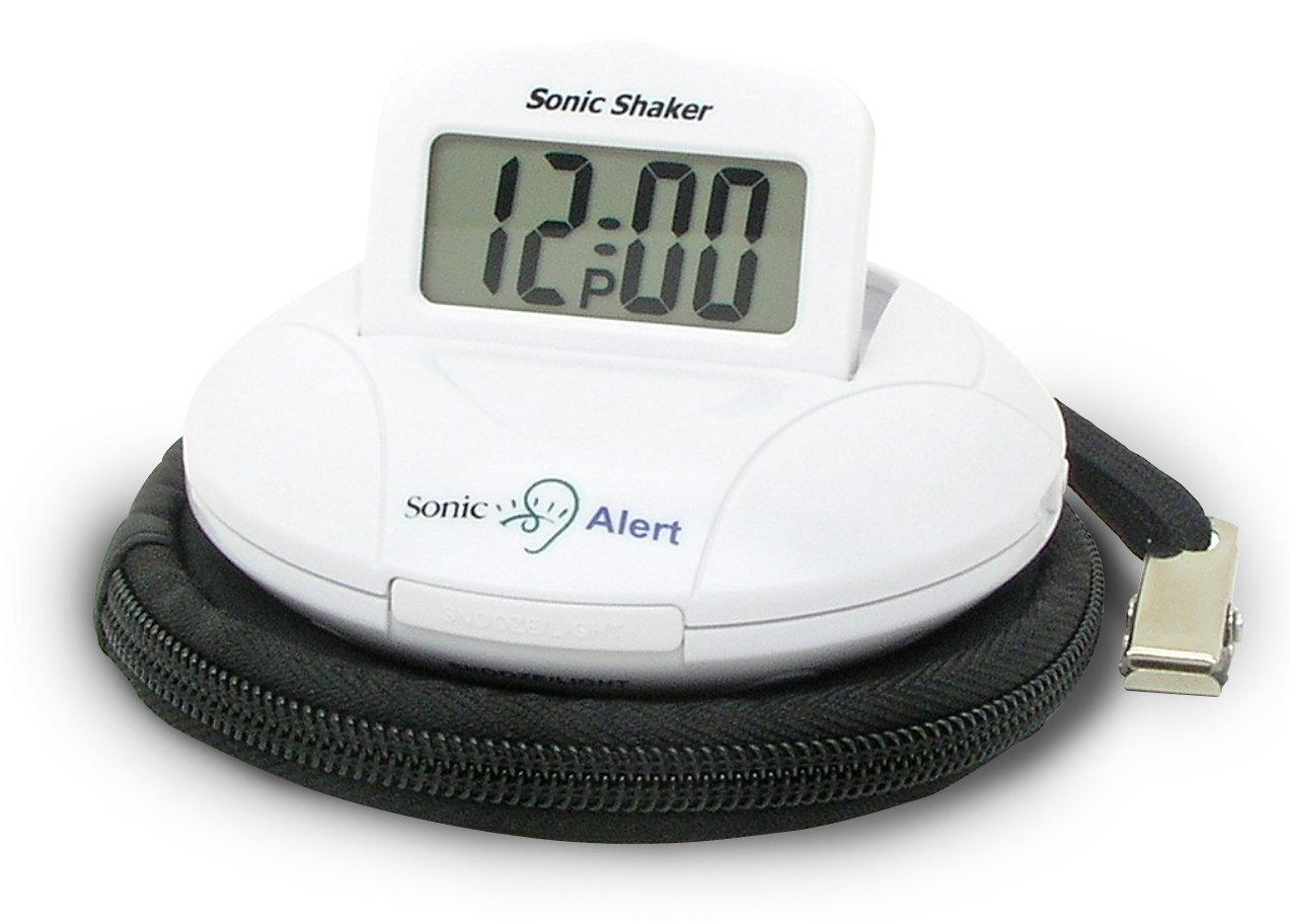 Geemarc WAKE 'N' SHAKE VOYAGER- Travel Alarm Clock with Vibration Geemarc Telecom SA JWNS-VOYAGER_WH_I
