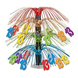 Beistle 52139-13''13'' Cascade Centerpiece, 18'', Multicolor