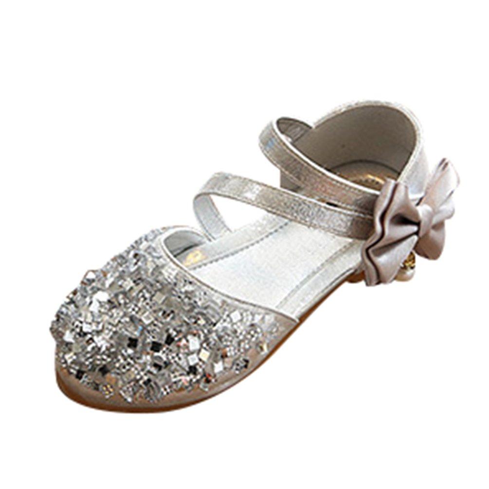 NiSeng Niñas Lentejuelas Princesa Calzado Plano Fiesta Vestir Zapatos Bailarinas Zapatos