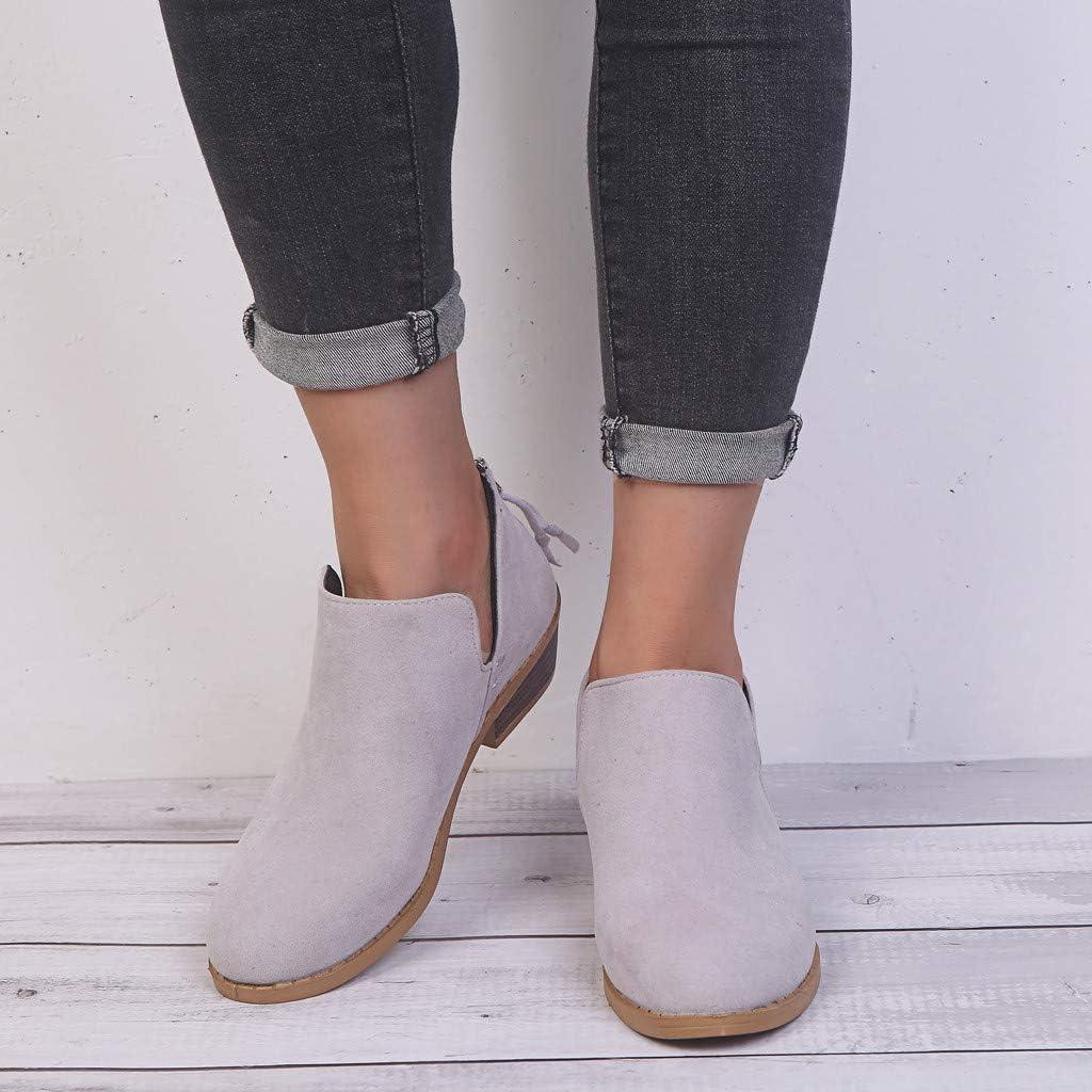 Posional Zapatos Botines De Punta Puntiaguda Para Mujer Botas Calzados TacóN Ancho Cremallera Invierno Moda Mujer Con Estampado Serpiente TacóN Bajo Y Cordones CóModos Redonda: Amazon.es: Ropa y accesorios