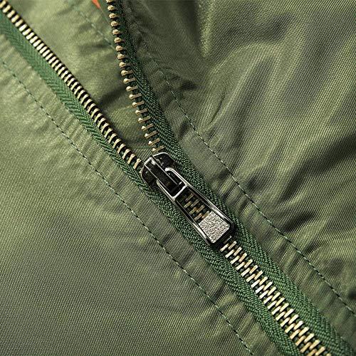 De Bombardero Bombardero Piloto De Hombre De para Dick Clásico Vuelo Chaqueta grün Hombres Chaqueta N1 Chaqueta Bombardero Acolchado para Ligero De Ma1 De q8Zt6
