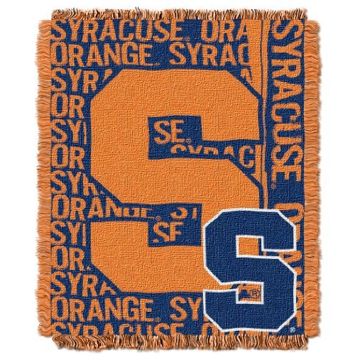 (The Northwest Company Officially Licensed NCAA Syracuse Orange Double Play Jacquard Throw Blanket, 48