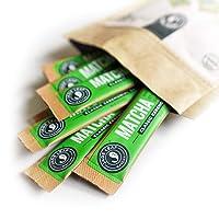 Jade Leaf Matcha Green Tea Powder - Organic Ceremonial Single Serve Stick Packs [30ct]