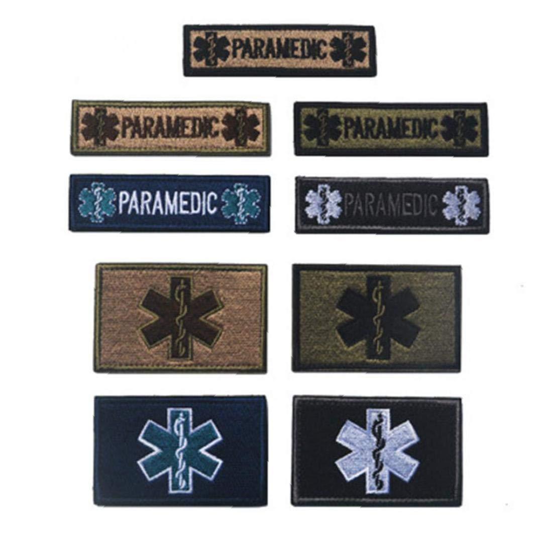 Casecover Estrella De La Vida En Urgencias M/édicas Medic Aid Cruz Apliques Cierre De Gancho Y Bucle Insignia Militar Patch Moral