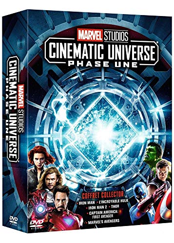 Marvel Studios Cinematic Universe : Phase 1 - 6 films Francia DVD: Amazon.es: Robert Downey Jr., Jeff Bridges, Tim Blake Nelson, Ty Burrell, Don Cheadle, Scarlett Johansson, Sam Rockwell, Mickey Rourke, Chris