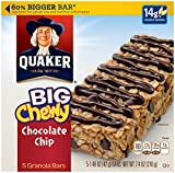 yogurt bars kids - Quaker Chocolate Chip Big Chewy Bars, 5 ct