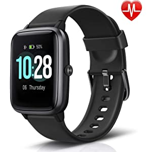 LETSCOM Fitness Tracker with Heart Rate Monitor, Smart Watch, Activity Tracker, Step Counter, Sleep Monitor, Calorie Counter, 1.3