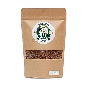 Pure Foods 4U Organic Raw Whole Flaxseeds |100% Raw Superfood from Ethiopia | Non-GMO | Gluten-Free | Kosher | Non-Irradiated | Vegan | 2lb (32oz)