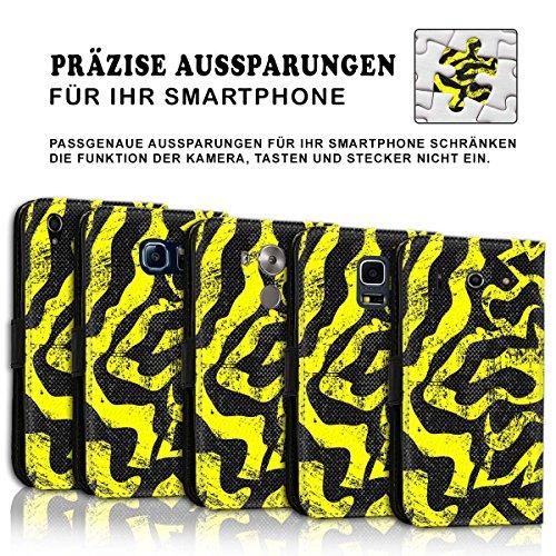 Wallet Book Style Flip Handy Tasche Case Schutz Hülle Schale Motiv Etui für Apple iPhone 6 / 6S - Design Flip MVD180