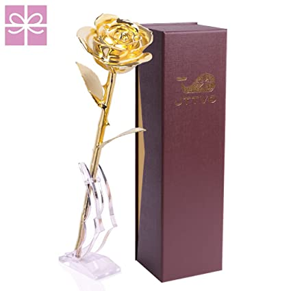 gifts for her birthday wedding anniversary 24k gold coated rose preserved forever by jttvo - Best Christmas Gifts For Wife