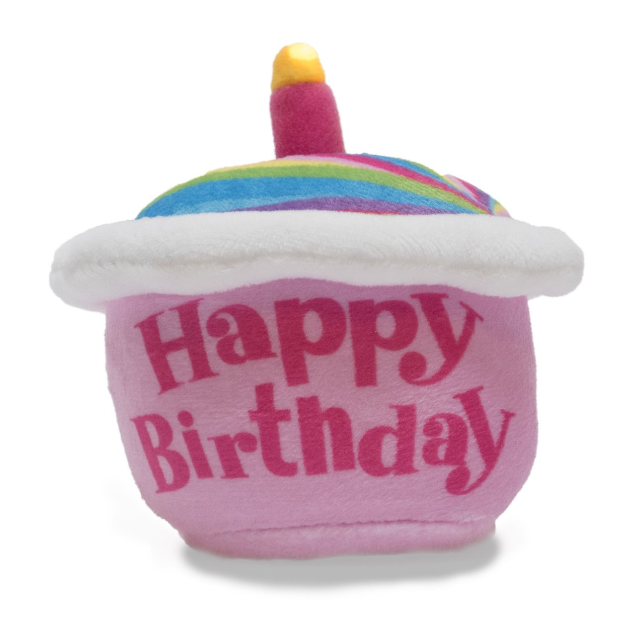 Cuddle Barn Birthday Cupcake Squeezer Lights Up and Plays Happy Birthday When Squeezed (Rainbow) by Cuddle Barn