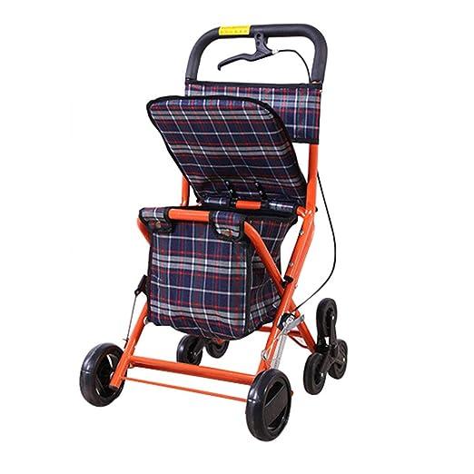 SXRL Andador de Aluminio con para Ancianos, Asiento de ...
