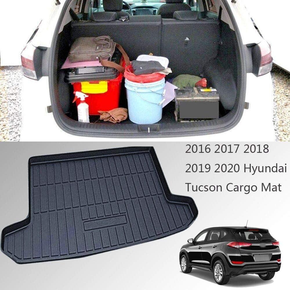 R5 AUTOMOTIVE Fits 2015-2021 Hyundai Tucson Custom Cargo Liner Trunk Floor Mat Black