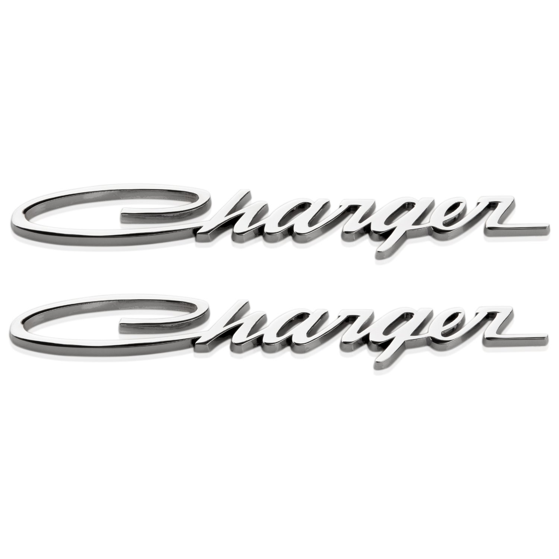 Yoaoo/® 2x Chrome OEM Original Charger Nameplate Emblems Badges Decal for Dodge Charger Chrysler Mopar Chrome Finish Chrome