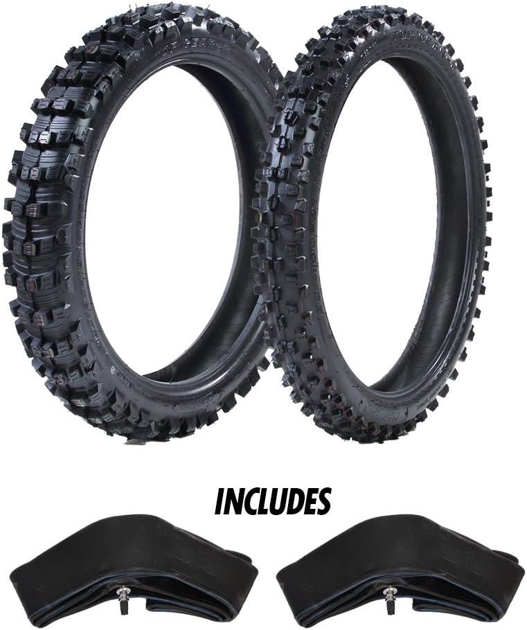 ProTrax Motocross Offroad Front 80//100-21 /& Rear 120//80-19 Tires /& Tubes Combo Kit Soft//Intermediate Terrain