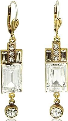 Artdeco Ohrringe Swarovski® Kristalle Gold Viele Farben NOBEL SCHMUCK