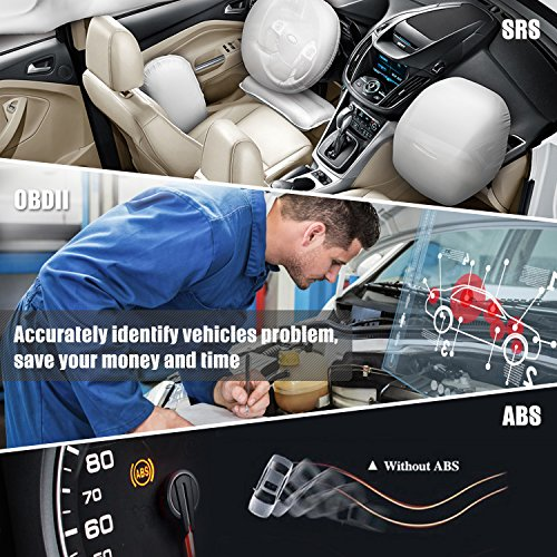 Launch Creader CR619 Automotive ABS SRS Diagnostic Scan Tool Auto Obd ii OBD2 Scanner Car Code Reader Check Engine SRS ABS Airbag Light Fault Code Reader with EVAP O2 On-board Monitor Test by LAUNCH (Image #3)