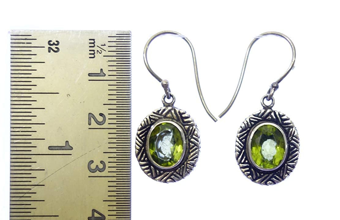 GENUINE PERIDOT GEMSTONE EARRING JEWELRY BY ARTISANS AUGUST BIRTH STONE 925 STERLING SILVER DROP DANGLE EARRING FOR WOMEN /& GIRLS UNIQUE DESIGNER MODERN FASHION HANDMADE EARRING