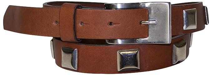 Fronhofer Ceinture pour femme ceinture cloutée ceinture en cuir véritable 2,5  cm boucle et 841e502918b