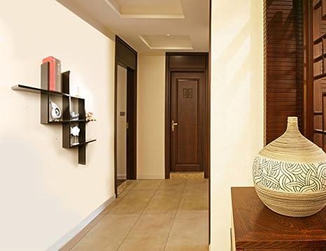 Pareti In Legno Moderne : Mensole di stoccaggio erru moderni in legno massiccio pareti