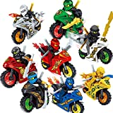 X Hot Popcorn 8 Style Cartoon Motorcycle Blocks Kids Educational Brick Building Sets Toy