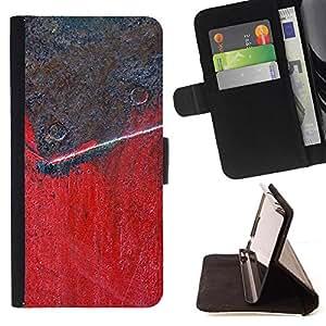 Kingstore / - Marrón y rojo superficie de metal con las pistas de uñas - Samsung Galaxy Note 4 IV