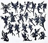 Creative Embellishments Scrapbook Laser Cut Chipboard Fairies Mega Pack 22 pieces (Black)