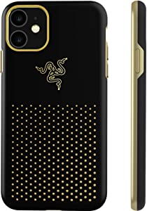 Razer Arctech Pro THS Edition for iPhone 11 Case: Thermaphene & Venting Performance Cooling - Wireless Charging Compatible - Drop-Test Certified up to 10 ft - Black Gold