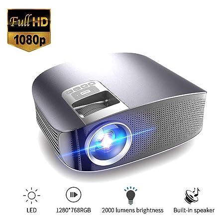 Mengen88 Proyector de Video portátil, HD LED LCD Proyector ...