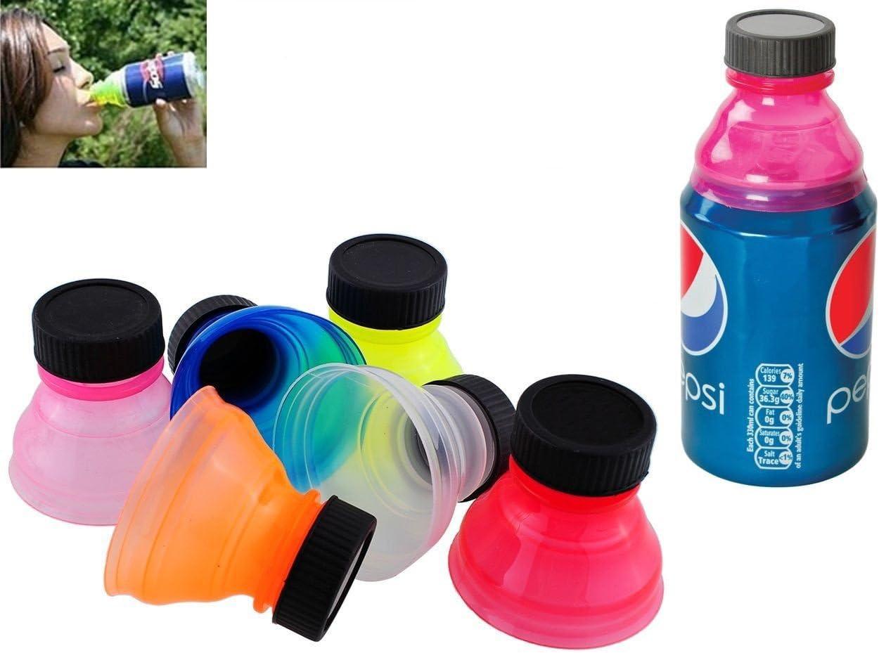 takestop/® Set 3 Tappi Tappo in PLASTICA Adattatore Universale per LATTINE Salva EFFERVESCENZA Idea Regalo Gadget Colore Casuale
