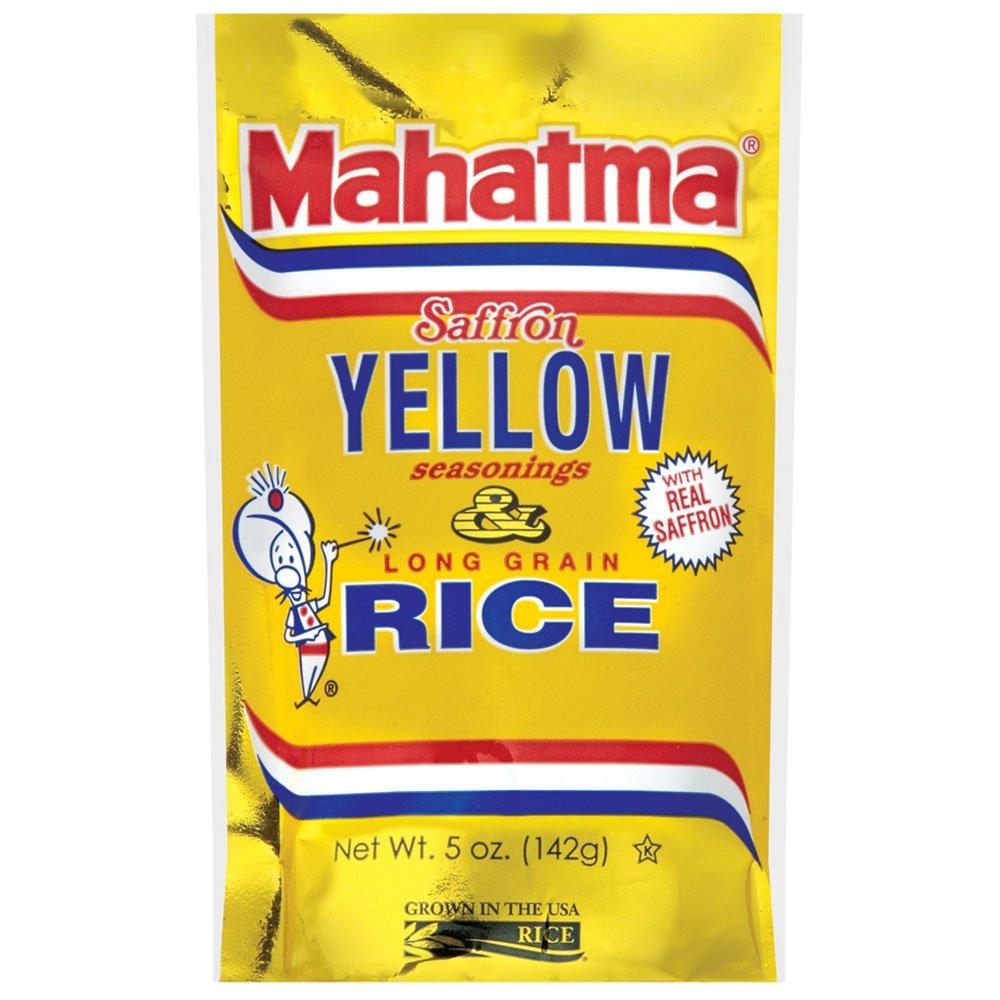 Mahatma Saffron Yellow Rice Mix, 5-Ounce (Pack of 12)