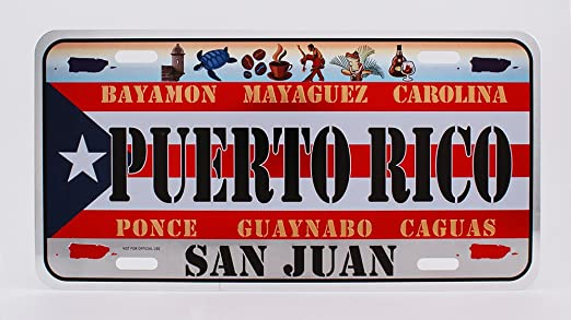 """Guaynabo Puerto Rico Novelty 6/"""" x 12/"""" Metal License Plate Auto Tag Sign"""