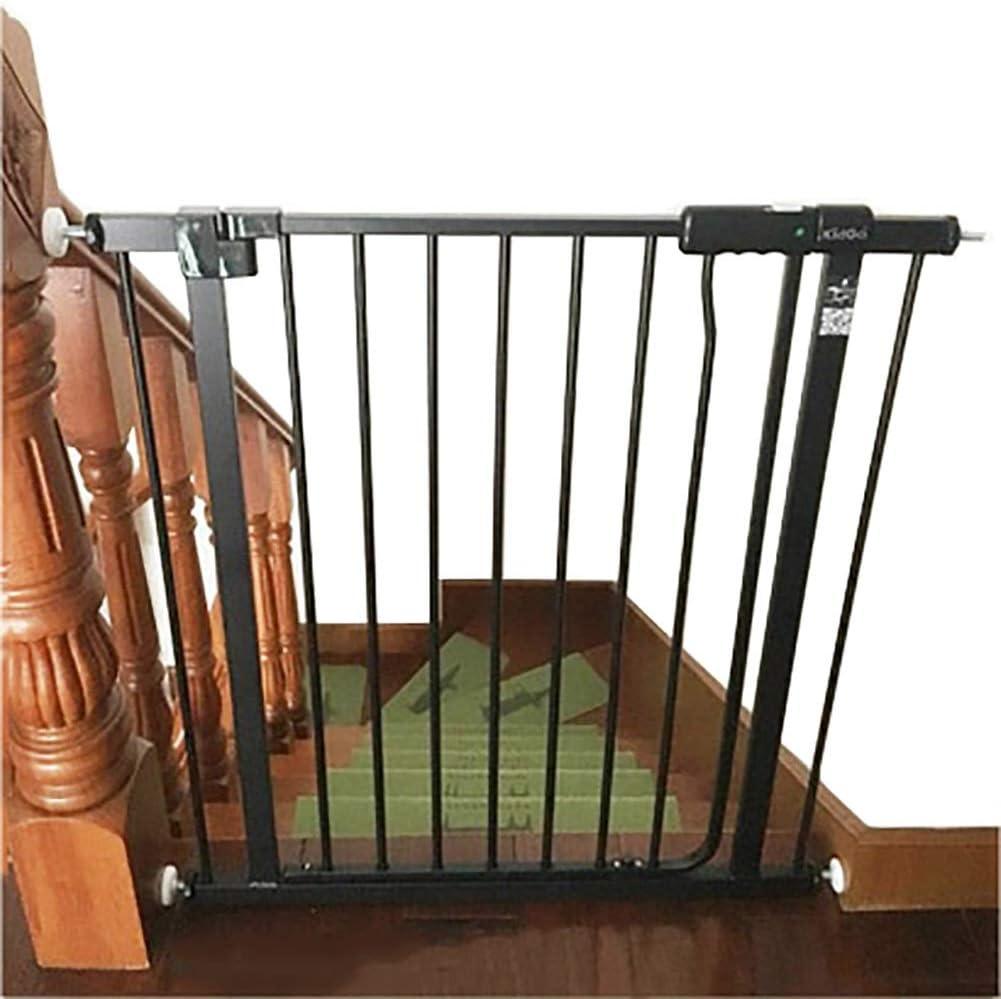 Barrera Seguridad Puerta del Bebé Negro para Escaleras Puertas - 81cm De Altura Infantil/Animal Walk-a Través De La Puerta con Kit De La Presión, Extra Ancho 73-199cm: Amazon.es: Hogar