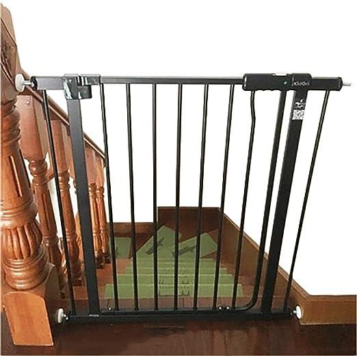 Barrera Seguridad Puerta del Bebé Negro para Escaleras Puertas ...
