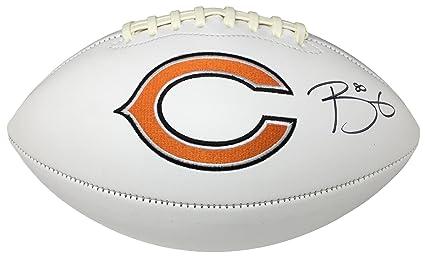 784fbe39 Trey Burton Signed Chicago Bears Logo Football JSA ITP at Amazon's ...