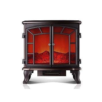 CJC Termoventiladores y calefactores cerámicos Estufa Hogar 2000W De Pie Real Llama Efecto Troncos Ardiente Llama Efecto: Amazon.es: Hogar