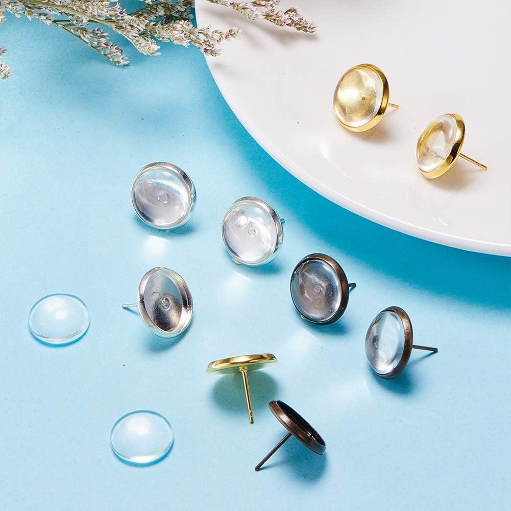 Ohrringhaken hypoallergene Ohrring-Haken-Set f/ür Schmuckherstellung Ohrringherstellung Zubeh/ör in Gold und Silber Kalolary 900-teiliges Schmuckherstellungs-Set