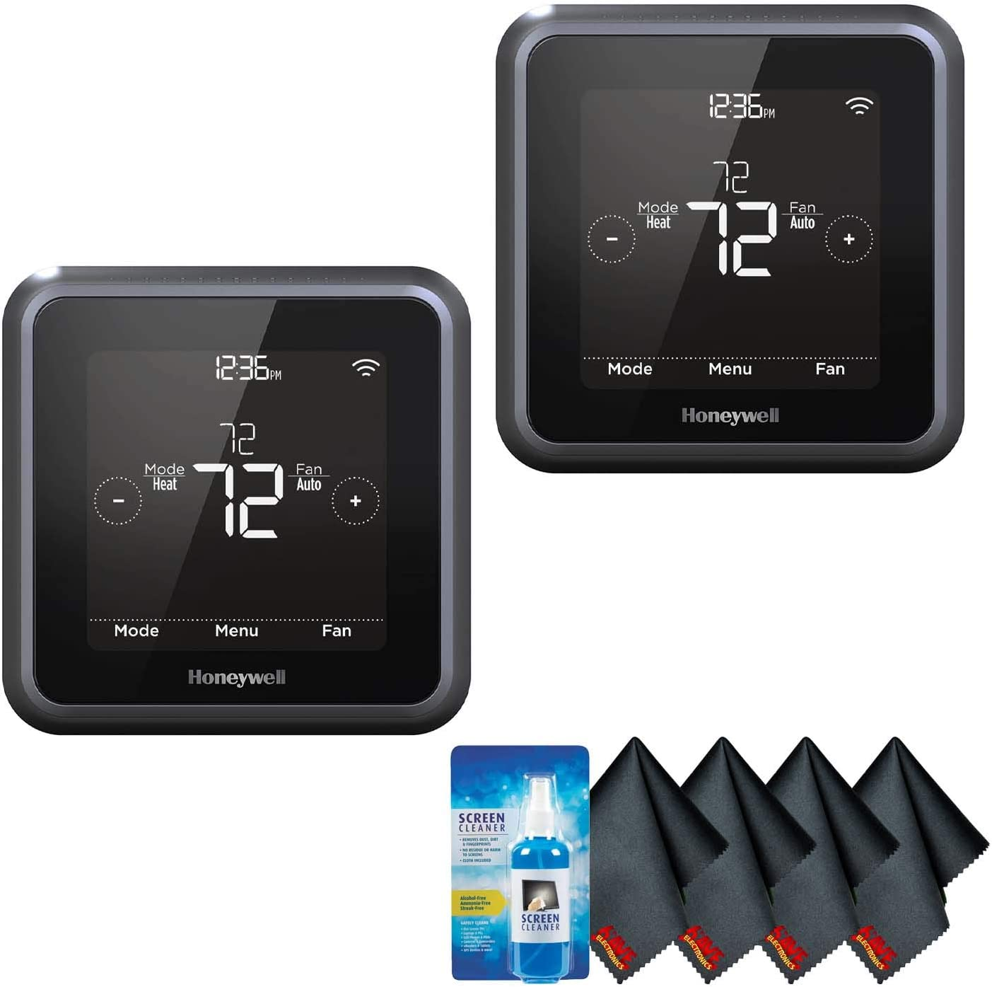 Honeywell Home T5 Wi-Fi Touchscreen Smart Thermostat (2-Pack) Accessory Kit