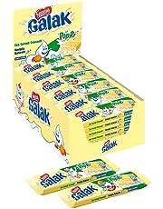 Nestle Galak Popri Barrette di Cioccolato Bianco con Cereali- Cartone con 36 Barrette da 35 g
