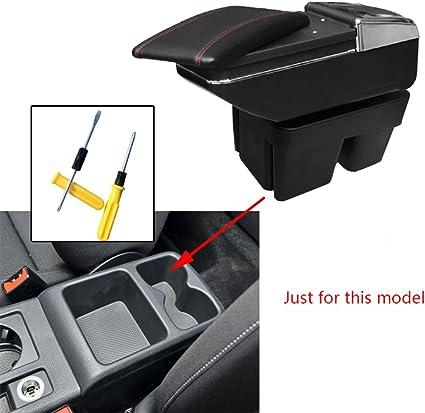 Para V olkswagen Golf 7 Auto Apoyabrazos Consola Central Reposabrazos Accesorios Negro: Amazon.es: Coche y moto