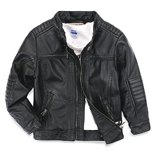 Amazon Com Ljyh Boys Leather Jacket New Spring Children S Collar