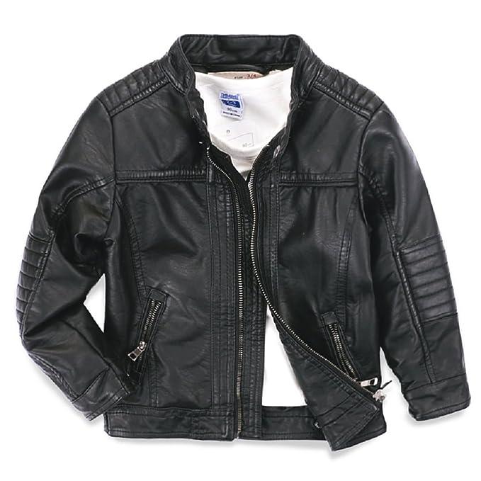 58d3bcbac Amazon.com  LJYH Boys Leather Jacket New Spring Children s Collar ...