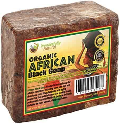 Wonderfully Natural Organic African Black Soap , 16 oz