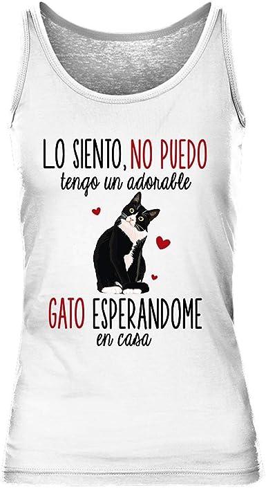 Gato Gatito | Camiseta sin Mangas para Mujer: Amazon.es: Ropa y accesorios